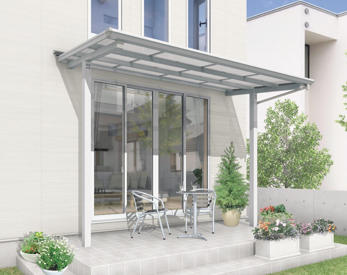 3タイプの「独立式」テラス屋根で打ち付けずに簡単・快適・安心に